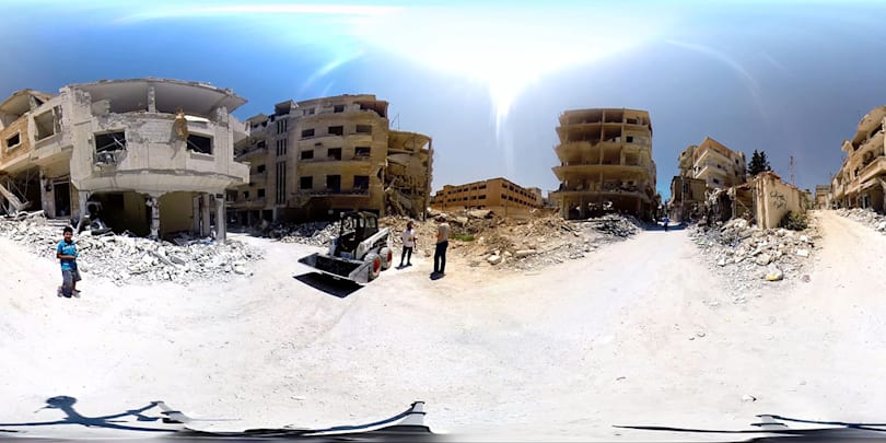 360-degree video puts you in a bombed-out Syrian war zone
