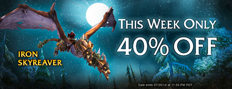 Iron Skyreaver 40% off this week