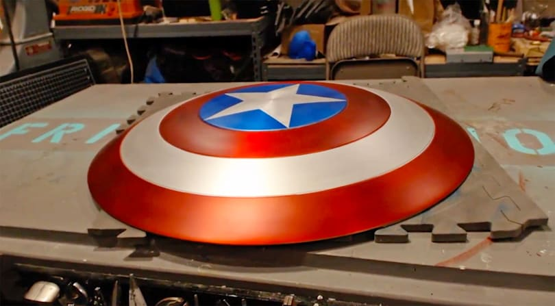 Fan-made Captain America shield pulls off a few superhero tricks
