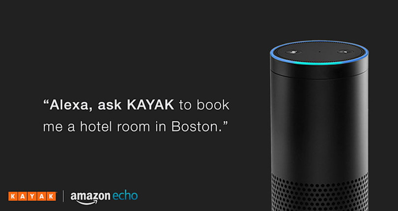 Amazon's Alexa can book hotels through Kayak with your voice