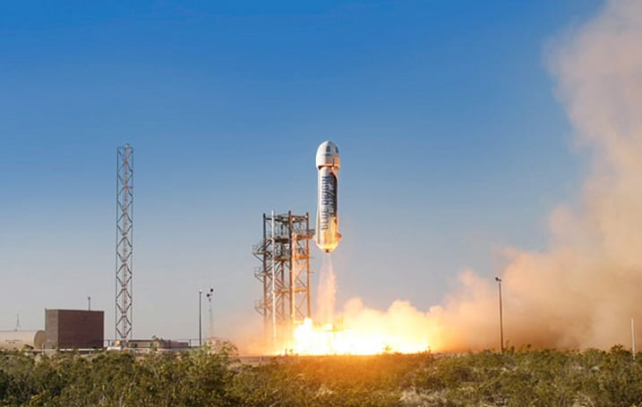 Jeff Bezos' first proper test rocket has successfully launched