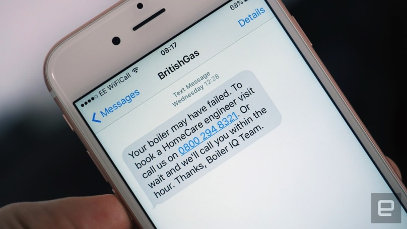 British Gas' Boiler IQ will text you before it breaks down