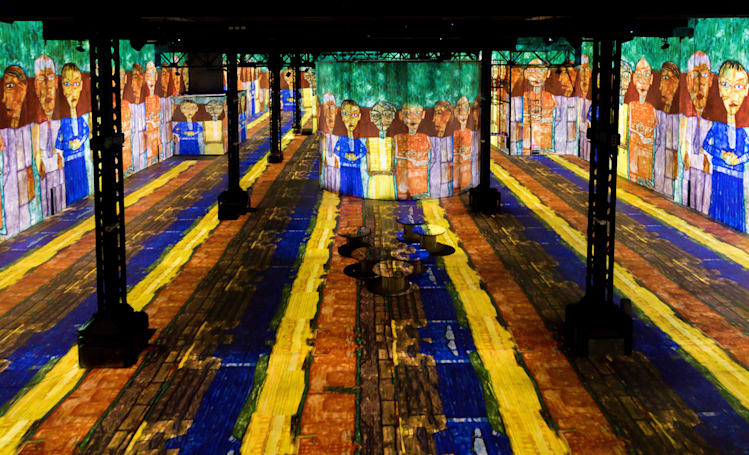 Projection is the ideal medium for Gustav Klimt's electric art