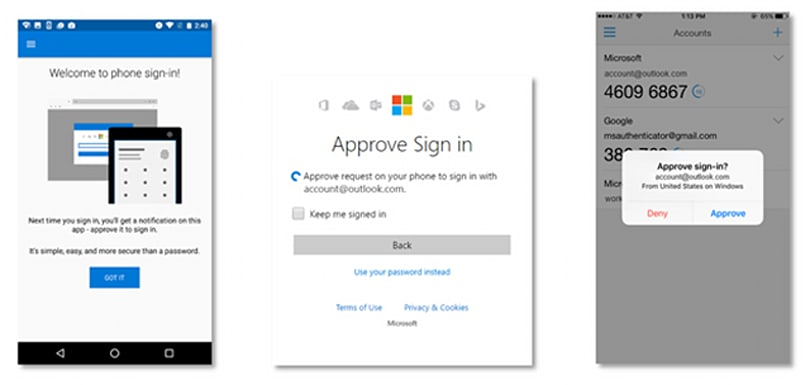 Microsoft replaces the password with a phone-based log-in