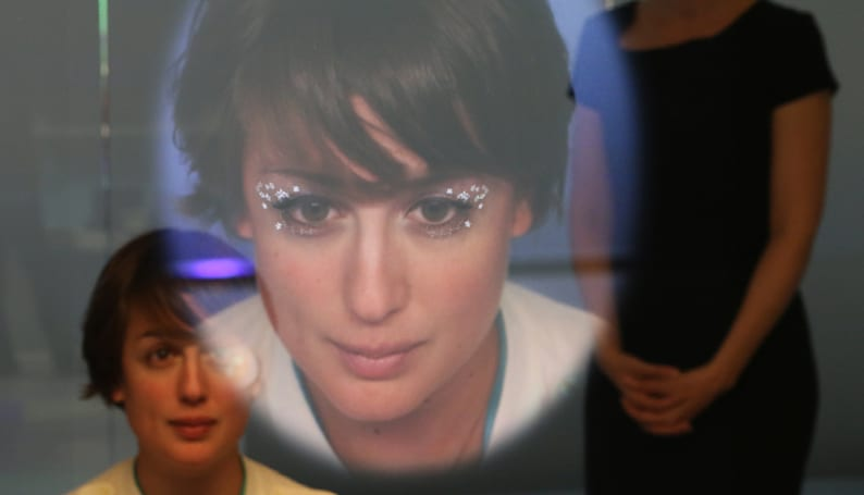 Panasonic's smart mirror turned me into a 1970s space princess