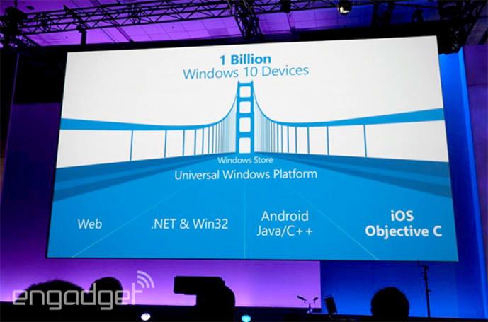 Android、iOS 和 Web App 將能更輕易移植到 Windows 10 上