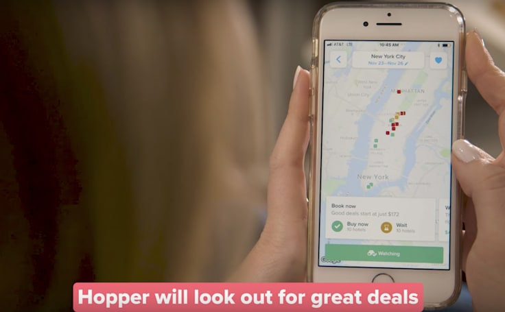 Hopper app uses predictive pricing tech to find NYC hotels