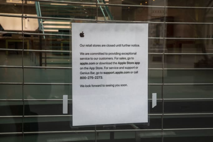 Apple Stores in the US will remain closed until early May