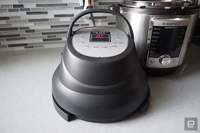 The Instant Pot Air Fryer Lid works as promised, but only for small batches