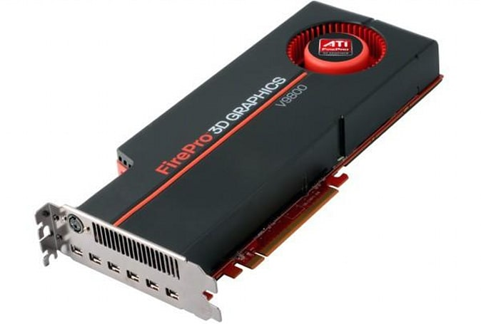 ATI FirePro V9800 runs out of ideas, shoots up with 4GB of GDDR5 and six mini DisplayPorts