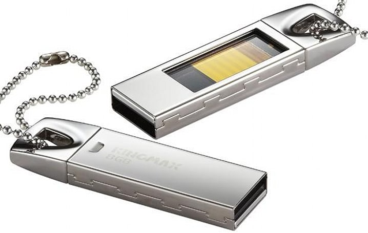 Kingmax intros UI-05 USB flash drive with glass ceiling, lets you see memory storage 'in action'