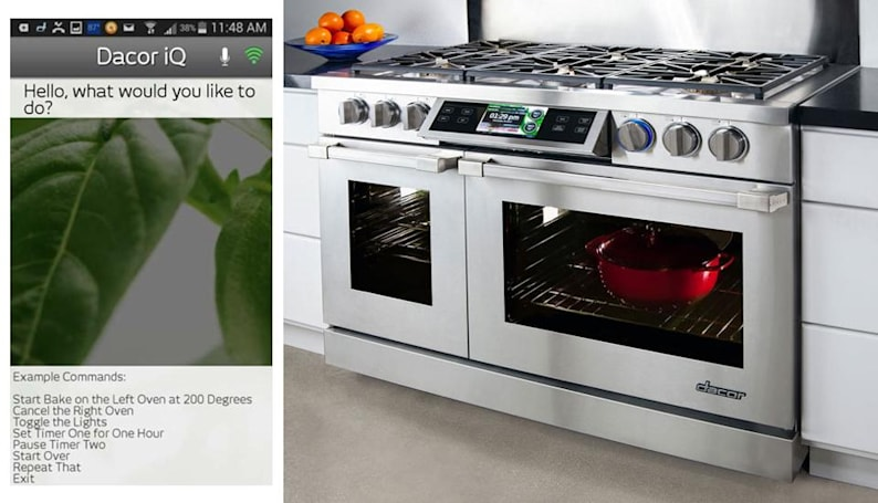 Dacor's Android-based ovens take voice commands from an app