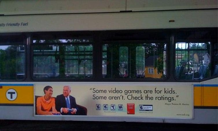 ESRB's ad campaign with Boston mayor in the wild