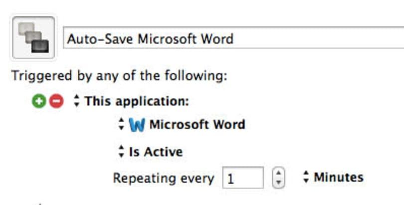 Auto-Save Microsoft Word with Keyboard Maestro