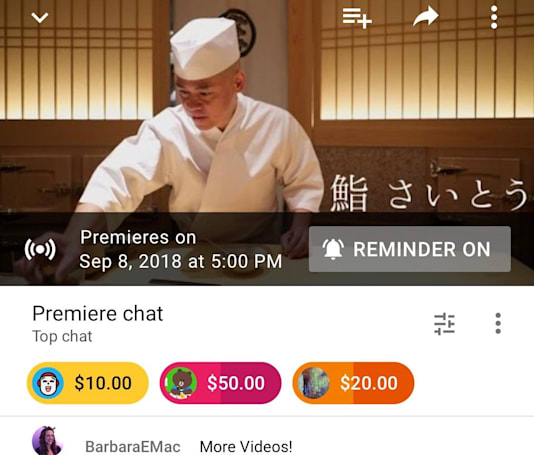 YouTube creators can hype prerecorded videos with 'Premieres'