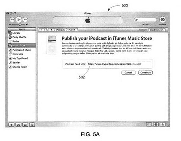 """Apple wins patent for """"Techniques and systems for supporting podcasting"""""""