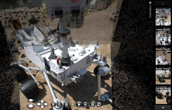 NASA's new virtual tours of the Space Station and new Mars Rover exactly approximate the sensation of not being in space