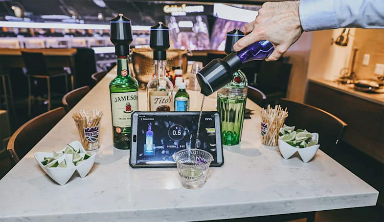 Sacramento Kings guests can use 'smart' bottles to pour their own drinks