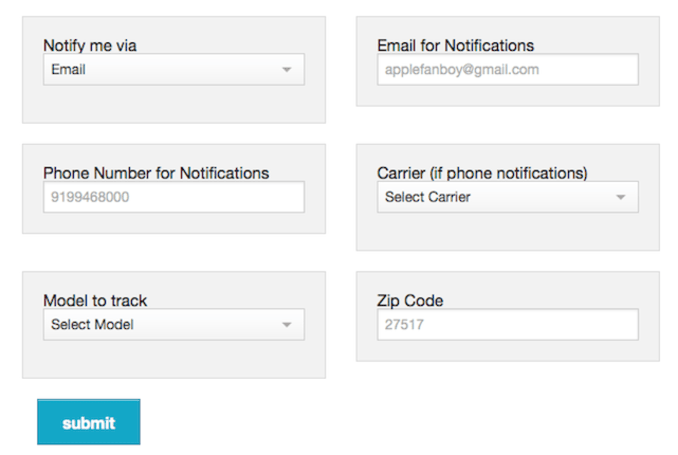 6Tracker.com will notify you when your local Apple Store has the iPhone 6