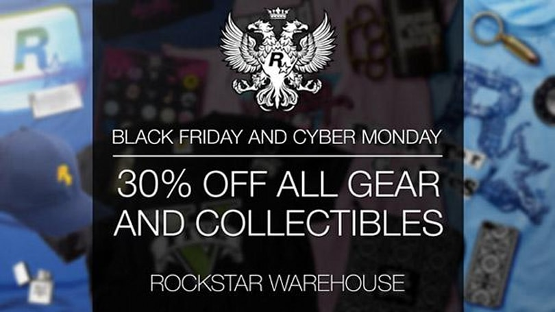 Rockstar's Black Friday sale discounts GTA 5 merchandise