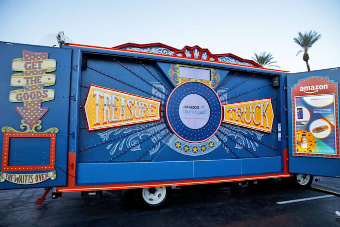 Amazon Treasure Trucks are hawking their wares at Whole Foods