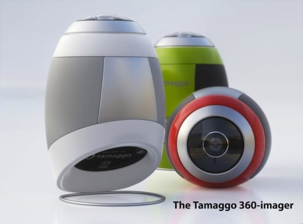 Tamaggo 360-imager teams up with your PC or phone to take 360-degree panoramic pictures