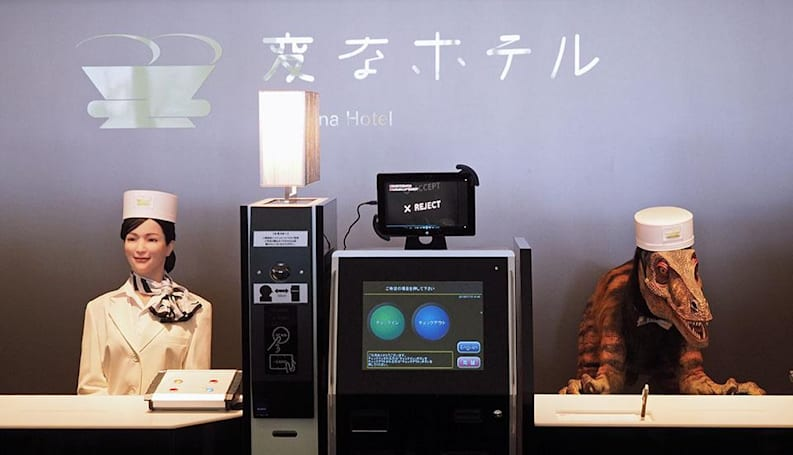 Meet the faces of Japan's first robot-staffed hotel