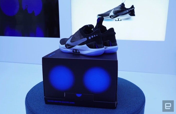 Unboxing Nike's self-lacing Adapt BB sneakers is like opening a smartphone