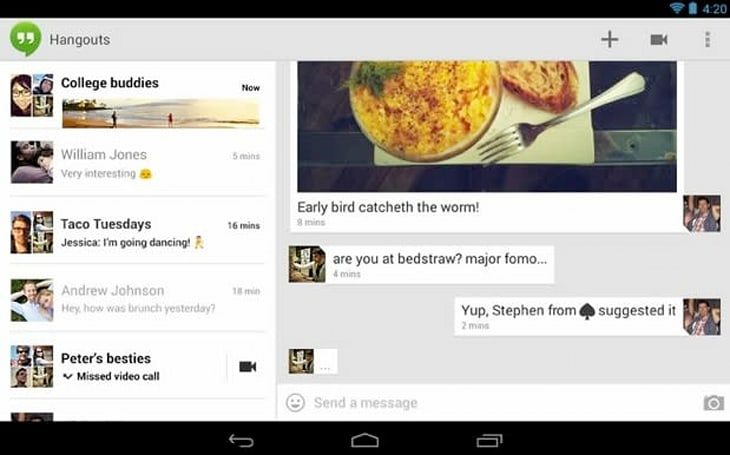 Google updates Hangouts with more emoji and a touch of Project Butter