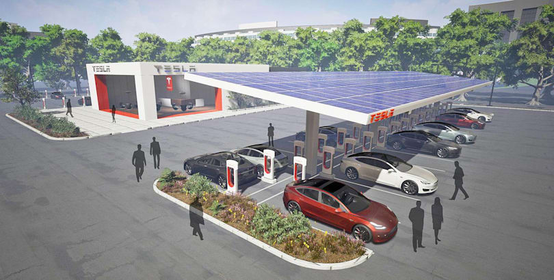 Tesla's massive Supercharger rest stops come online in California