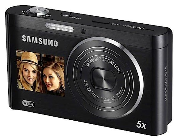 DV300F point-and-shoot camera adds WiFi to Samsung's front-facing LCD DualView line
