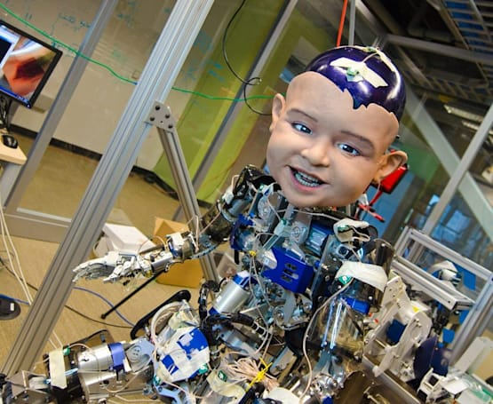 Researchers use creepy robo-baby to figure out why infants smile