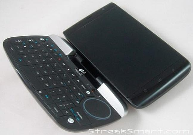 Dell Streak makes friends with Logitech diNovo Mini (in more ways than one)