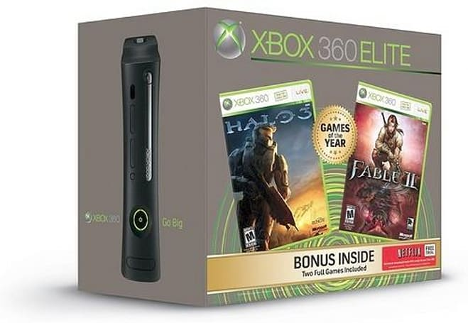 $400 Xbox 360 Elite Games of the Year bundle with Halo 3 and Fable 2 gets official