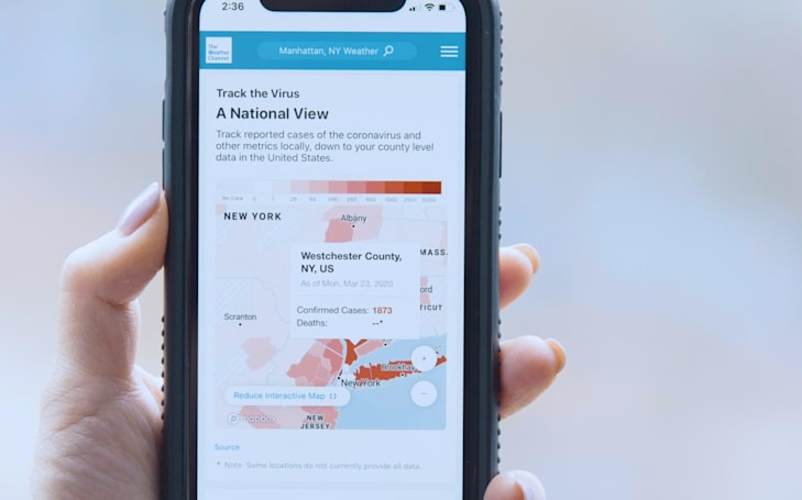 The Weather Channel brings localized COVID-19 updates to your phone