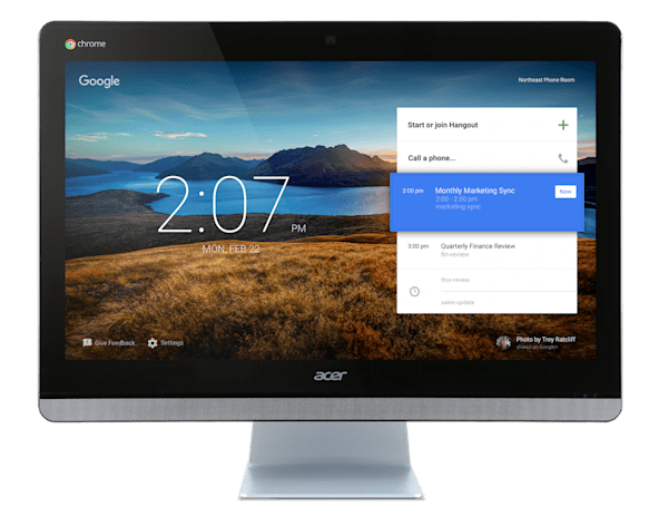 Acer Chromebase is an all-in-one video conference system