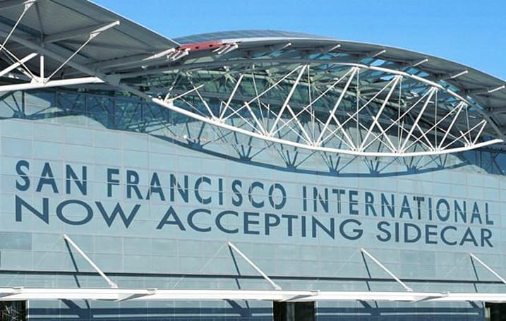 Sidecar is the first ride-sharing app to officially serve San Francisco airport