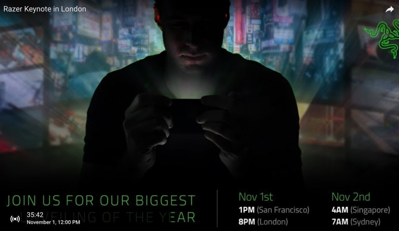 Watch Razer debut its gaming phone right here at 4 PM ET