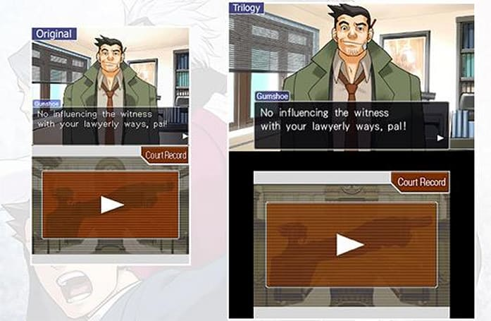 Ace Attorney Trilogy screens flaunt enhanced graphics