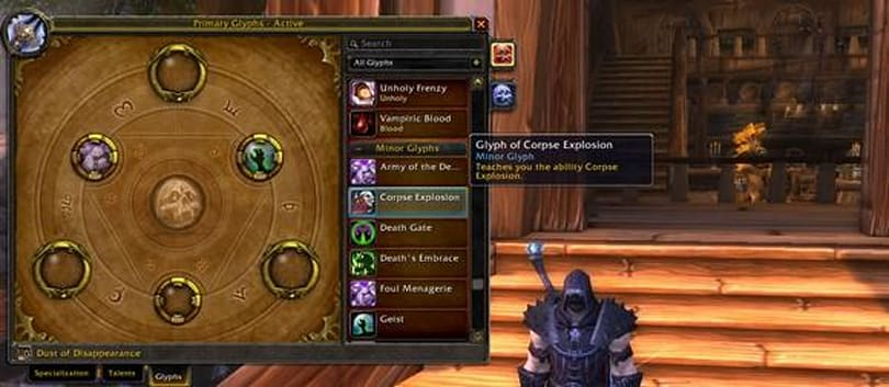 Lichborne: Death knight glyphs in Mists of Pandaria and patch 5.0.4