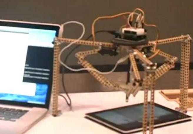 Robot plays Angry Birds (or any other touchscreen app)