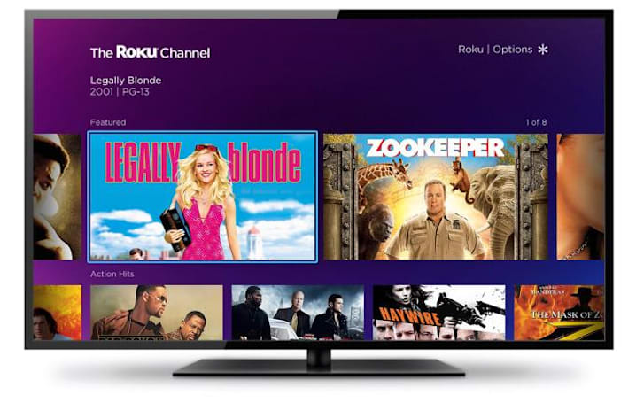 Roku launches a free, ad-supported movie channel of its own