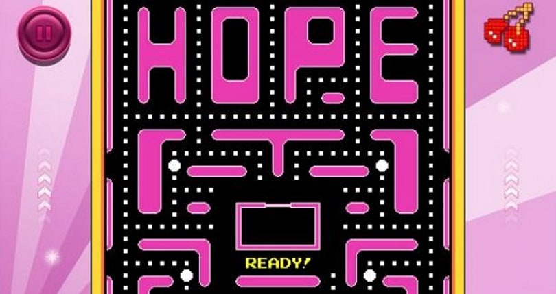 The Pac-Man family fights breast cancer during October