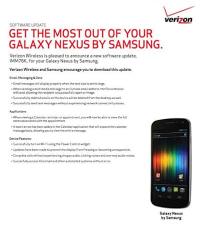 Verizon, Google get ready to post Galaxy Nexus' Android 4.0.4 update, really really this time