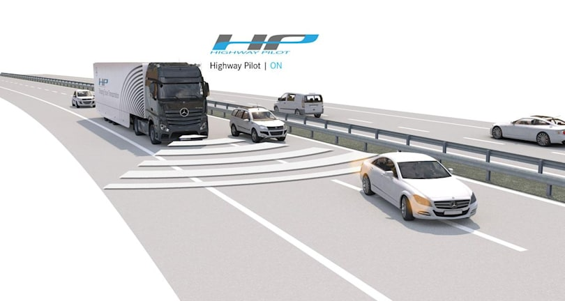 Daimler tests a self-driving, mass-produced truck on real roads