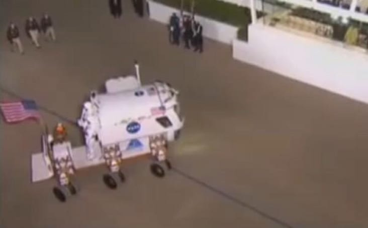 NASA electric lunar rover struts its stuff for the President