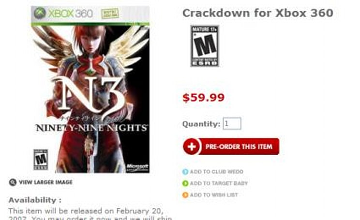 Target mixes up Crackdown and N3