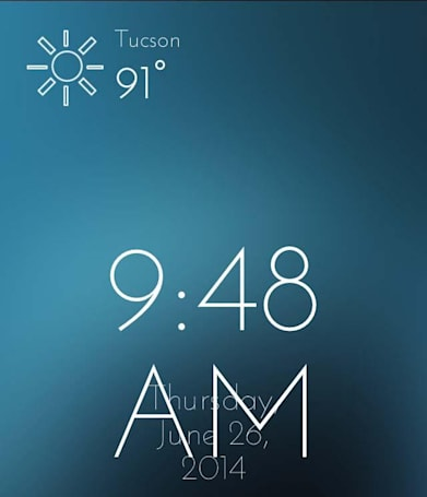 Talking Weather Alarm Clock: Wake up to a personal weather forecast