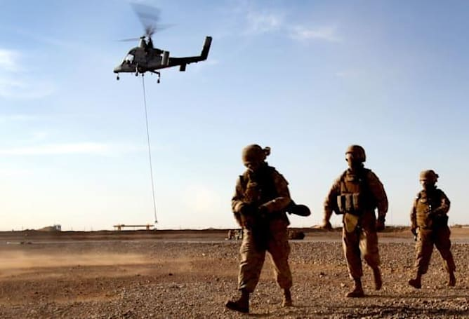 Unmanned cargo chopper shows off its search-and-rescue talents