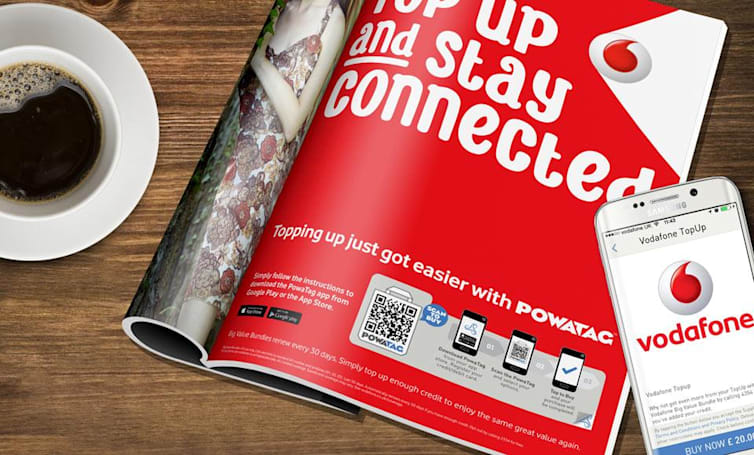 Vodafone turns to QR codes for 'simpler' pay-as-you-go top-ups
